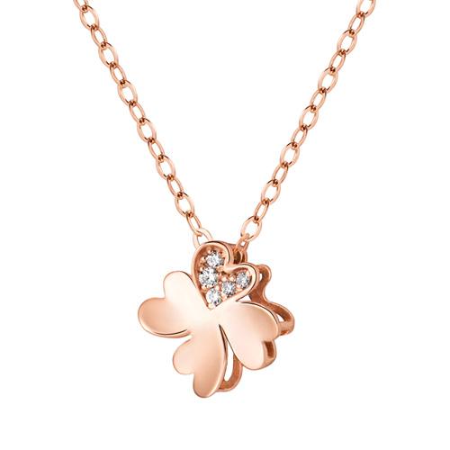 14K / 18K Band Clover Necklace