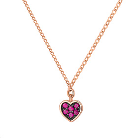 14K / 18K Wine Heart Double Sided Necklace