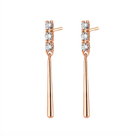 14K Charly short earring