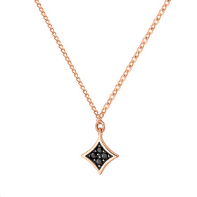 14K / 18K Black Mirror Sided Necklace