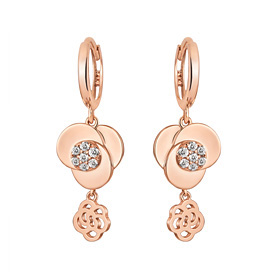 14K / 18K Twin Rose earring