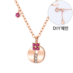 14K / 18K Bijou Circle Necklace [DIYchain]