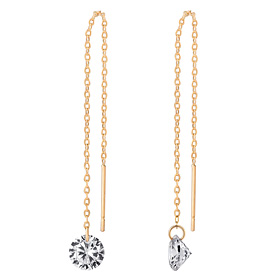 14K Glitter Long Earring [overnightdelivery]