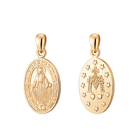 14K / 18K Virgin Mary Pendants purchase only 4 sets 1