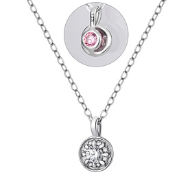 14K / 18K Circle Snow Wedding Necklace [swarovski]