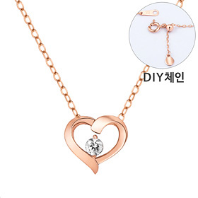 "<b><font color=""b400b0"" >[Part 1 Contemporary Emotion]</font></b> <br> 14K / 18K Love Cue 1 part diamond Necklace [DIYchain] [overnightdelivery]"