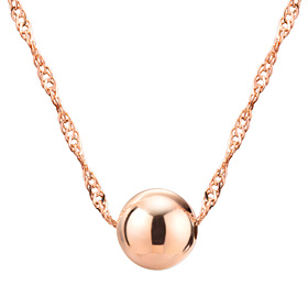 14K 7mm Shine Ball Necklace [overnightdelivery]