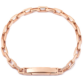 14k / 18k chain square (small) bracelet