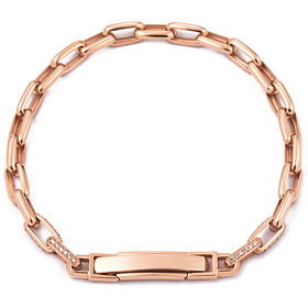 14k / 18k chain square (large) bracelet