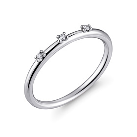 Platinum [Pt950] Simple twin platinum ring