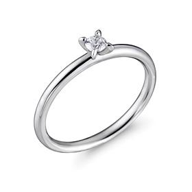 Platinum [Pt950] simple seed 1 part CZ platinum ring