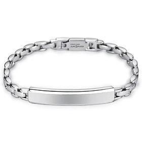 Platinum [Pt950] Simple Baba Watch Platinum Bracelet (men, women)
