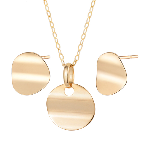 14K Chick Set [Necklace + earring]