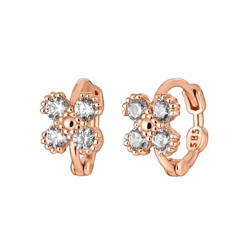 14K / 18K Cubic Clover earring / earrings