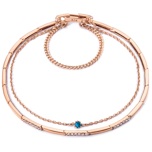 14k / 18k Polystic Two-String Bracelet