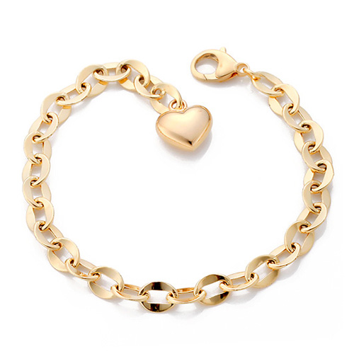 14K / 18K wave hollow (medium) bracelet [overnightdelivery]