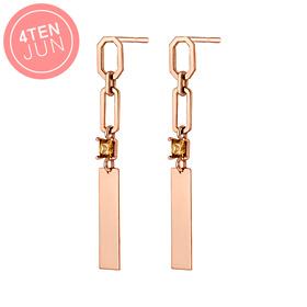 14K Potenjun Tinkling Long Earrings