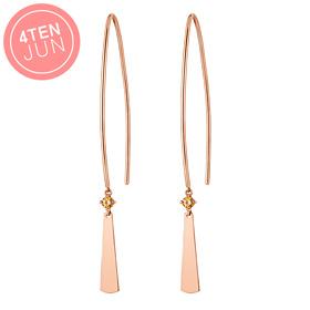 14K Potenjian folding fan long earrings