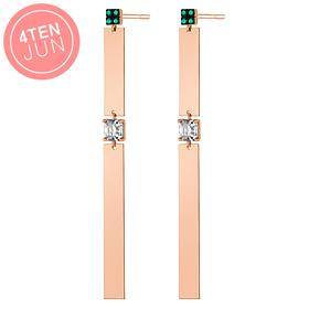 14K Potenjun Joint Long Earrings