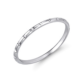 Platinum [Pt950] Wide Bar Platinum Ring