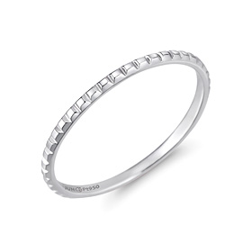 Platinum [Pt950] Small bar platinum ring
