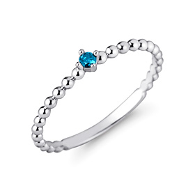 Platinum [Pt950] Blue bubble blue diamond Platinum ring