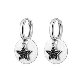 Platinum [Pt950] Dark Star Platinum Earrings