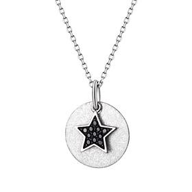 Platinum [Pt950] Dark Star Platinum Necklace