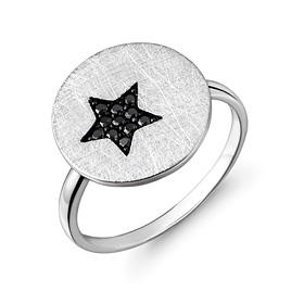 Platinum [Pt950] Dark Star Platinum Ring