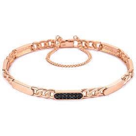 14k / 18k black bar bracelet