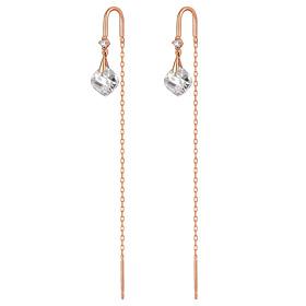 14K Tier Water Long Earrings