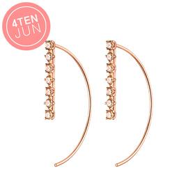 14K Potenza brooch long earrings