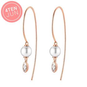 14K Potenjon Pearl Drop Long Earrings