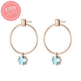 14K Potenza Mint Circle Earring