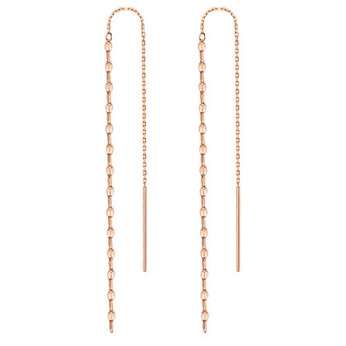 14K Clover Long Earring [overnightdelivery]