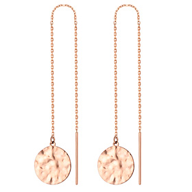 14K vintage circles long earrings [overnightdelivery]