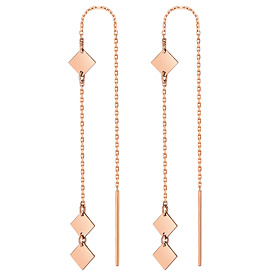 14K square mobile long earring [overnightdelivery]