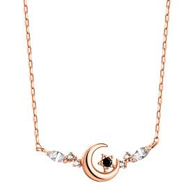 14K Moon Flower Necklace