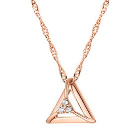 14K Triangular Cube Necklace