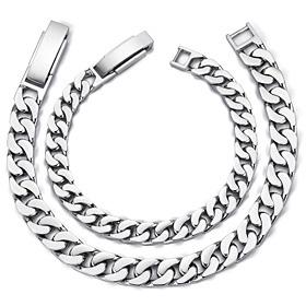 Platinum [Pt950] Narrow couple platinum bracelet [men, women pair price]