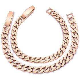14K / 18K Narrow couple bracelet [men, women pair price]