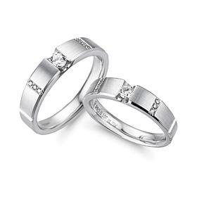 Platinum [Pt950] True Romance Part 1 CZ Platinum Coupling
