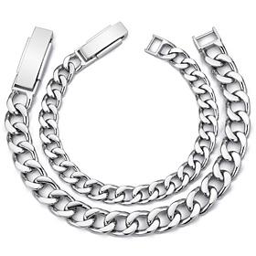 Platinum [Pt950] Launched couple platinum bracelet [men, women pair price]