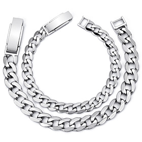 Platinum [Pt950] Flat circle couple platinum bracelet [men, women pair price]