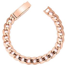 14K / 18K flat circle (large) bracelet [male recommended]