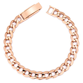14K / 18K Flat Circle (small) bracelet [Recommended for women]