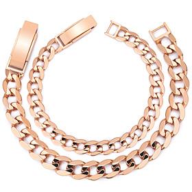 14K / 18K flat circle couple bracelet [men, women pair price]