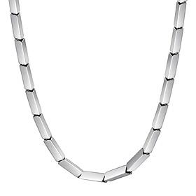 Platinum [Pt950] Kubrick (large) platinum necklace [male recommended]