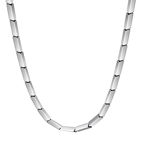 Platinum [Pt950] Kubrick (small) Platinum necklace [Recommended for women]