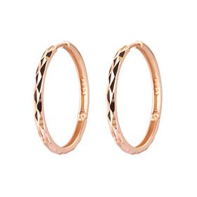 14K / 18K mirrored large ring earrings [3 couples 1]